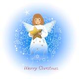 Engel met een ster Stock Afbeelding