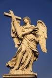 Engel met het kruis Stock Afbeelding