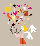 Engel met Hoorn vector illustratie