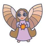 Engel met ster royalty-vrije illustratie