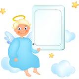 Engel met tablet Stock Afbeeldingen
