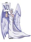 Engel met teken Royalty-vrije Stock Foto