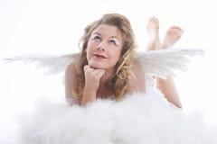 Engel met vleugels royalty-vrije stock afbeeldingen