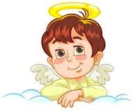 Engel mit den gekreuzten Armen stock abbildung