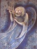 Engel mit einer Violine lizenzfreies stockfoto