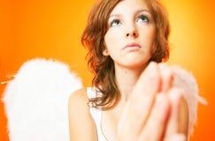 Engel mit Flügeln.   stockfoto
