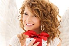 Engel mit Geschenk Lizenzfreie Stockfotos