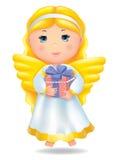 Engel mit Geschenk Stockfotos
