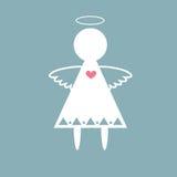 Engel mit Herzvektor Lizenzfreies Stockbild