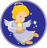 Engel mit Kerze Stockfotografie