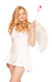 Engel mit magischem Stab Stockbild