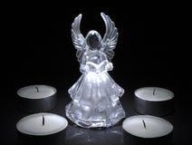 Engel mit Teeleuchten Stockbilder