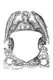 Engel mit Wappen vom 16. Jahrhundert lizenzfreie abbildung