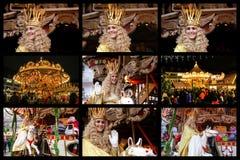 Engel Nürnbergs Christkind - Symbol des Weihnachtsmarktes Collage mit Christkind Teresa Stockfoto