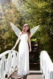 Engel op brug Stock Afbeeldingen