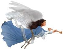 Engel op wit stock afbeeldingen