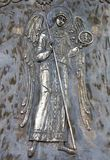 Engel. Ornament van een klok. royalty-vrije stock foto