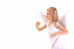 Engel in profiel stock afbeelding
