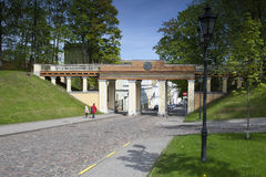 Engel ` s Brücke in Tartu, Estland Lizenzfreie Stockfotos