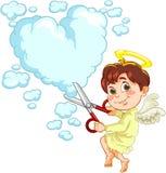 Engel und Herz vektor abbildung
