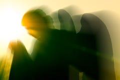 Engel und Leuchte Lizenzfreie Stockfotos