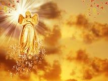 Engel van de herfst Stock Foto's