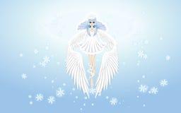 Engel van de winterbehang Royalty-vrije Stock Afbeelding