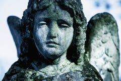 Engel van dood als symbool van het eind van het levenseeuwigheid, godsdienst, geloof, hoopconcept royalty-vrije stock foto's