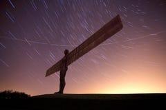 Engel van het noorden bij nacht Royalty-vrije Stock Afbeelding