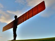 Engel van het Oriëntatiepunt van het Noorden van Gatheshead Newcastl Stock Foto
