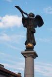 Engel von Uzupis in Vilnius Stockbild