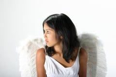 Engel in wit Royalty-vrije Stock Afbeeldingen