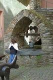 Engel am Wunschbrunnen Stockfoto
