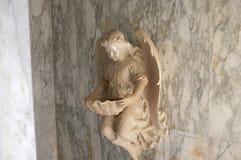 Engelachtig cupidostandbeeld - uitstekend retro effect stijlbeeld stock afbeelding