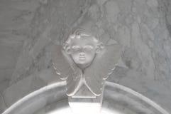 Engelachtig cupidostandbeeld - uitstekend retro effect stijlbeeld stock fotografie