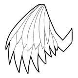 Engelachtig vleugelpictogram, overzichtsstijl stock illustratie