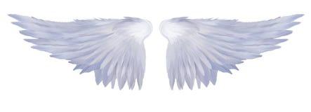 Engelachtige Vleugels Stock Afbeelding