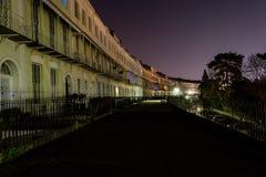 ENGELAND, BRISTOL - 21 APRIL 2015: Koninklijk York Crescent Clifton langs Stock Afbeeldingen