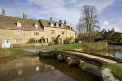 Engeland, Cotswolds, Lagere Slachting stock fotografie