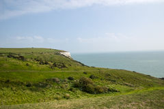 Engeland Dover White Cliffs Stock Afbeeldingen