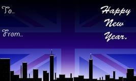 Engeland, gelukkig nieuw jaar. Royalty-vrije Stock Fotografie
