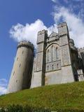 Engeland: Het kasteelheuvel van Arundel Stock Afbeeldingen