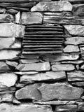 Engeland: het oude detail van de steenmuur Stock Foto