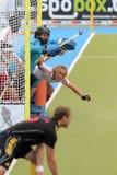 Engeland V Belgium.Hockey Europese Kop Duitsland 2011 Stock Foto