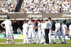 2012 Engeland v 3de de Testgelijke van Zuid-Afrika dag 4 Stock Foto's