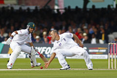 2012 Engeland v 3de de Testgelijke van Zuid-Afrika dag 1 Stock Foto