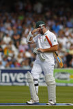 2012 Engeland v 3de de Testgelijke van Zuid-Afrika dag 1 Stock Foto's