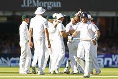 2012 Engeland v 3de de Testgelijke van Zuid-Afrika dag 2 Stock Foto's