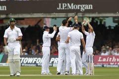 2012 Engeland v 3de de Testgelijke van Zuid-Afrika dag 1 Royalty-vrije Stock Foto's