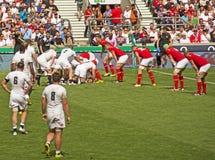 Engeland v het Rugbyunie van Wales in Twickenham stock afbeeldingen
